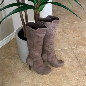 BCBG Generation warm taupe tall boots